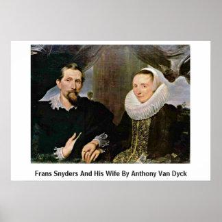 Francisco Snyders y su esposa de Anthony Van Dyck Impresiones