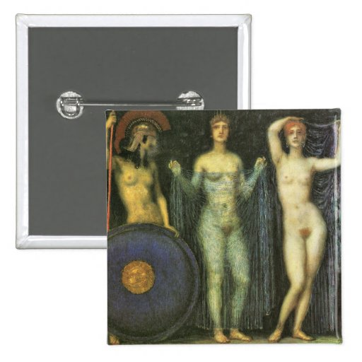 Francisco von Stuck - las tres diosas Athena Hera Pin