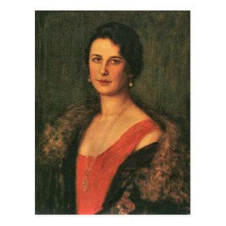 Francisco von Stuck - señora Patzak Tarjeta Postal