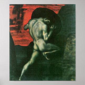 Francisco von Stuck - Sisyphus Póster