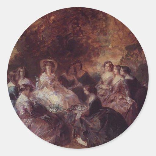Francisco Winterhalter- la emperatriz Eugenie Pegatina Redonda