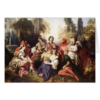 Francisco Xaver Winterhalter- el Decameron Tarjeta De Felicitación