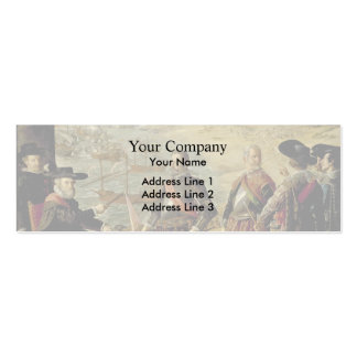 Francisco Zurbaran-Defence of Cadiz Business Card Template