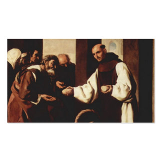 Francisco Zurbaran-Mercy of Fra Martin de Vizcaya Double-Sided Standard Business Cards (Pack Of 100)