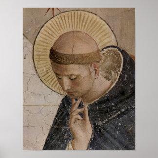 Franciscos de Asís del santo en la reflexión Poster