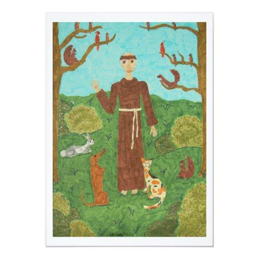 Franciscos de Asís del santo Invitación 12,7 X 17,8 Cm