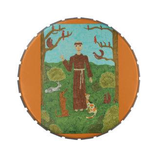 Franciscos de Asís del santo Frascos De Caramelos