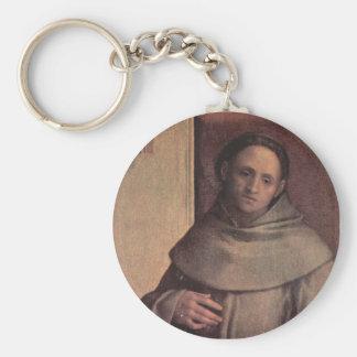 Franciscos de Asís del santo Llavero Redondo Tipo Pin