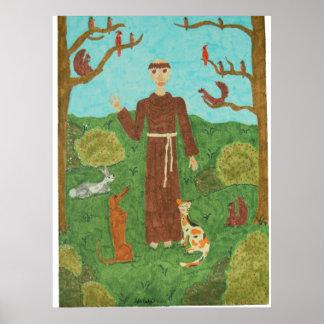 Franciscos de Asís del santo Poster