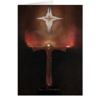 Franciscos de Asís del santo Tarjetón