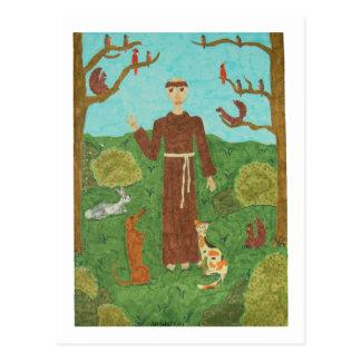 Franciscos de Asís del santo Postal