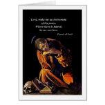 Franciscos de Asís en la meditación Felicitacion