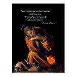 Franciscos de Asís en la meditación Postales