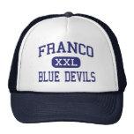 Franco Blue Devils Middle Presidio Texas Mesh Hats