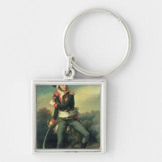Francois Athanese Charette de Contrie  1819 Silver-Colored Square Keychain