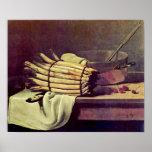 Francois Bonvin - Still life with asparagus Poster