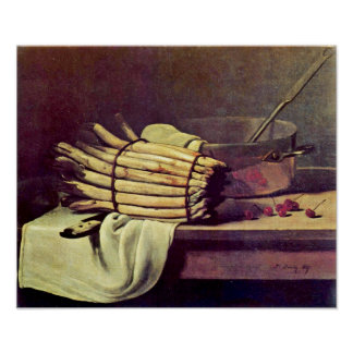 Francois Bonvin - Still life with asparagus Poster