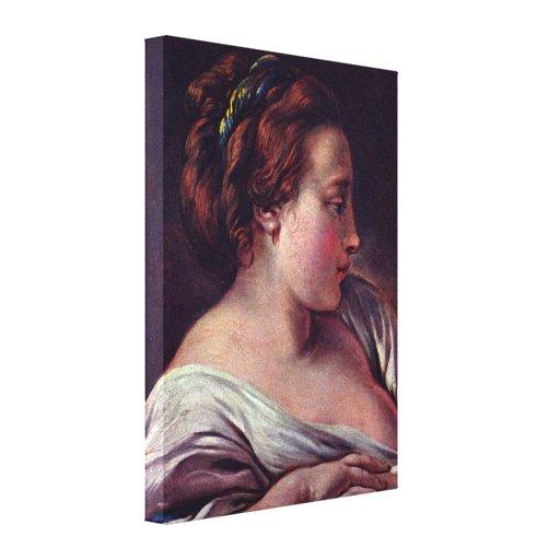 Francois Boucher - la cabeza de la mujer Impresiones De Lienzo
