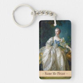 FRANCOIS BOUCHER - MADAME BERGERET portrait art Keychain