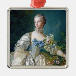 FRANCOIS BOUCHER - MADAME BERGERET portrait art Metal Ornament