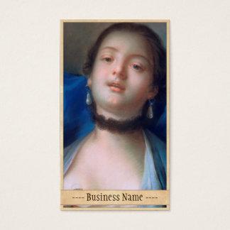 Francois Boucher Portrait of Young Woman lady art Business Card