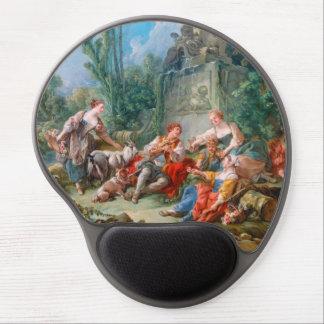 francois boucher shepherd's idyll rococo scenery gel mouse pad