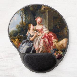 Francois Boucher The Billet Dou rococo ladies art Gel Mouse Pads