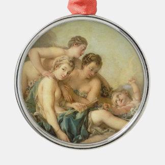 François Boucher The Toilet of Venus painting art Metal Ornament