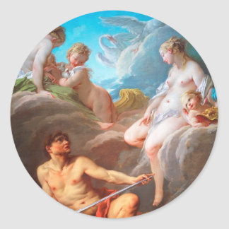 François Boucher-Venus at Vulcan's Forge painting Sticker