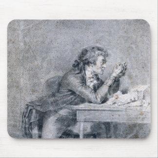 Francois Buzot  contemplating a portrait Mouse Pad