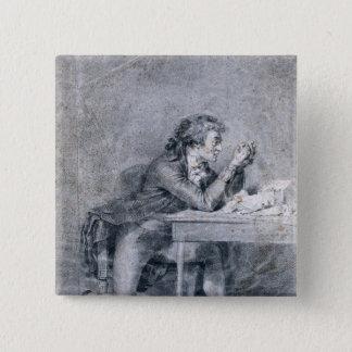 Francois Buzot  contemplating a portrait Pinback Button