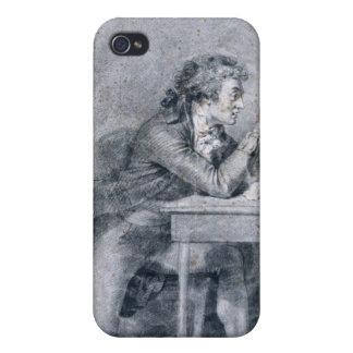 Francois Buzot que comtempla un retrato iPhone 4 Fundas