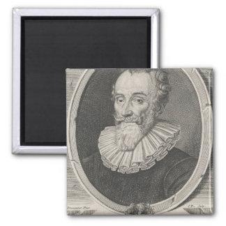 Francois de Malherbe 2 Inch Square Magnet