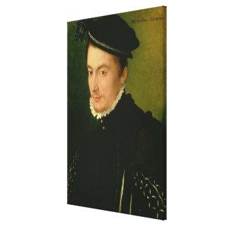 Francois de Valois , Duke of Alencon, 1560s Canvas Print