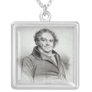 Francois Eugene Vidocq Square Pendant Necklace