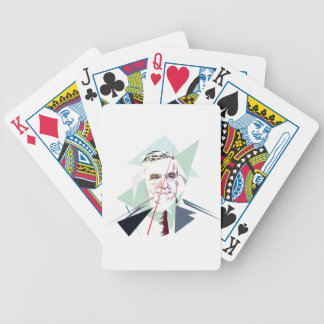 Francois Fillon after Pénélope Spoils Bicycle Playing Cards