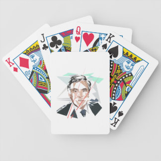 Francois Fillon before Pénélope Spoils Bicycle Playing Cards