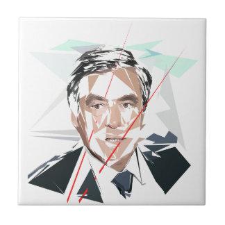 Francois Fillon before Pénélope Spoils Ceramic Tile