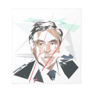 Francois Fillon before Pénélope Spoils Notepad