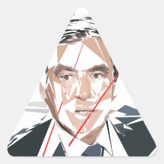 Francois Fillon before pénéloppe spoils Triangle Sticker
