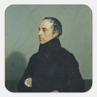 Francois Guizot Pegatina Cuadrada