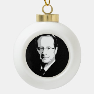 Francois Hollande Ceramic Ball Christmas Ornament