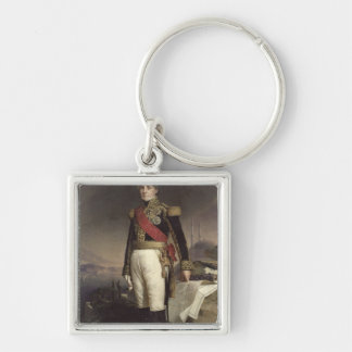 Francois-Horace  Count Sebastiani, 1841 Silver-Colored Square Keychain