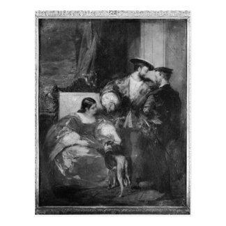 Francois I and Anne de Pisseleu Postcard