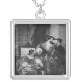 Francois I and Anne de Pisseleu Square Pendant Necklace