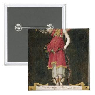 Francois I como deidad compuesta Pin Cuadrada 5 Cm
