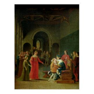 Francois I  Presented to Louis XII Postcard