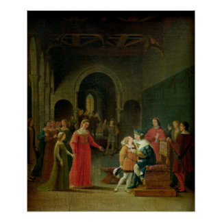 Francois I  Presented to Louis XII Poster