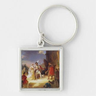 Francois I  with Leonardo da Vinci Keychain