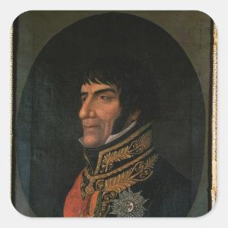 Francois Lefebvre  Duke of Dantzig Square Sticker